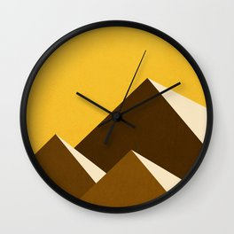 Abstraction_Mountains_YELLOW_001 Wall Clock