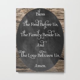 Prayer Table Blessing Metal Print