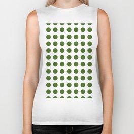 Simply Polka Dots in Jungle Green Biker Tank