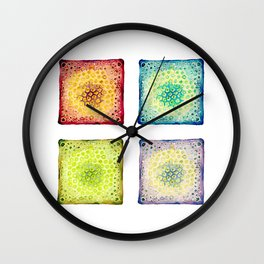Under the Scope - Diatoms Wall Clock