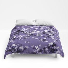 Ultra Violet Glitter Stars #1 #shiny #decor #art #society6 Comforters