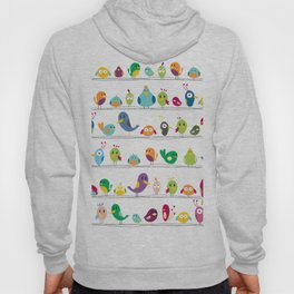 the birds are sitting and gazing... Hoody
