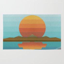 Sunset in Spectrum Rug