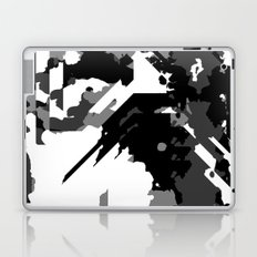 Black Gray and White Abstract Laptop & iPad Skin
