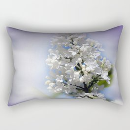 white lilac on textured background -a- Rectangular Pillow