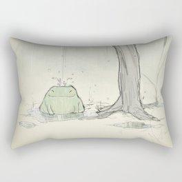 The frog under the rain Rectangular Pillow