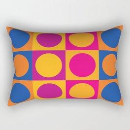 Swinging 60s Pop Art Pattern / Mod Design Rectangular Pillow