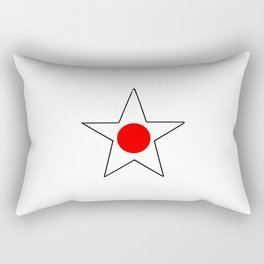 Flag of japan 4 Rectangular Pillow