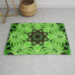 Fern and friends mandala - Maidenhair, Adiantum 567 kal 25 Rug