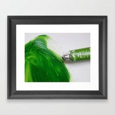 Painting Green #4 Framed Art Print