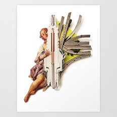 Sparklette | Collage Art Print