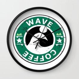 coffee wave Wall Clock