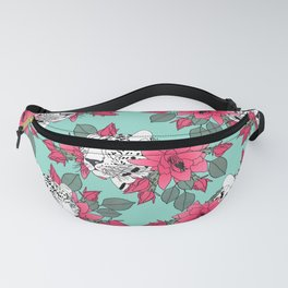 Stylish leopard and cactus flower pattern Fanny Pack
