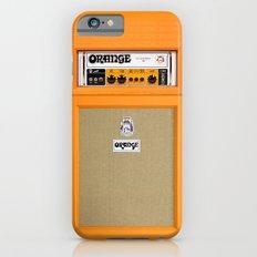 Retro Orange guitar electric amp amplifier iPhone 4 4s 5 5s 5c, ipad, tshirt, mugs and pillow case Slim Case iPhone 6