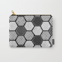 Black and White Pixel Magic Carry-All Pouch