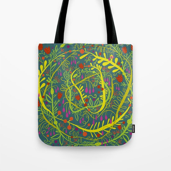 Dark Garden Gone Wild Tote Bag