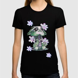 Baby Dragon with Flowers T-shirt