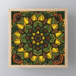 Sunflower Mandala Framed Mini Art Print