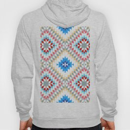 Colorful patchwork mosaic oriental kilim rug with traditional folk geometric ornament Hoody