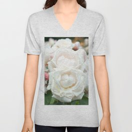 Field of Roses Unisex V-Neck