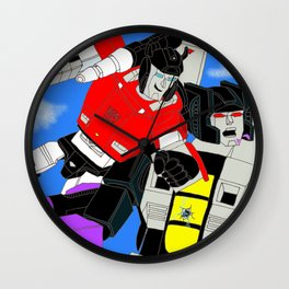Fan art: Sideswipe vs Skywarp Wall Clock