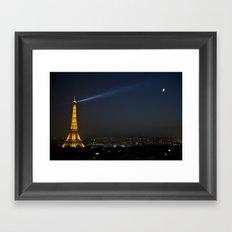 Paris at Night Framed Art Print