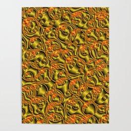 golden metall pattern Poster