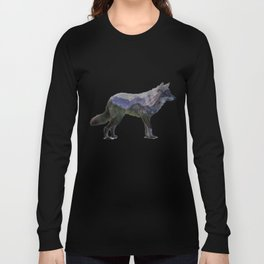 The Rocky Mountain Gray Wolf Long Sleeve T-shirt