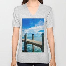 Summer Dock Hangs Unisex V-Neck