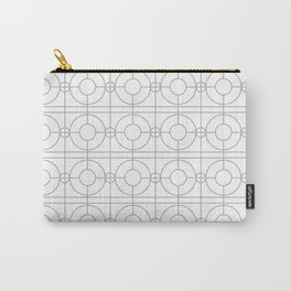 Pattern Circles Gray Carry-All Pouch