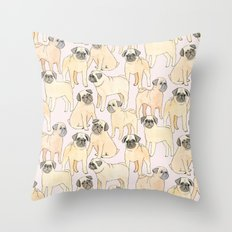 Pugs Throw Pillow