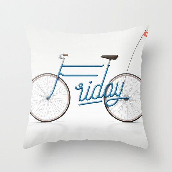 Lovely Friday Throw Pillow
