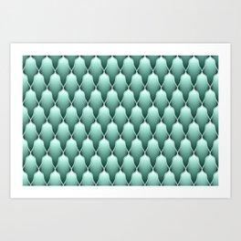 Sage Green Scallops Art Print
