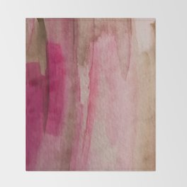Blush: a pretty and gentle watercolor piece in pinks and browns Throw Blanket