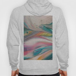 Unicorn Tail - Abstract Acrylic Art by Fluid Nature Hoody