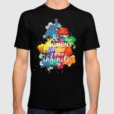 And In That Moment I Swear We Were Infinite - Perks of Being a Wallflower - Paint Splatter Poster Mens Fitted Tee Black MEDIUM