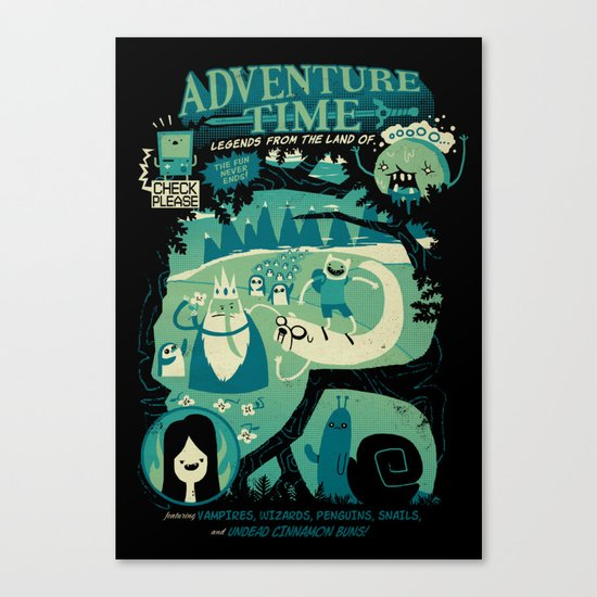 Legends from the Land of Ooo Canvas Print