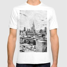 New York City - Fingerprint - Black ink Mens Fitted Tee White MEDIUM