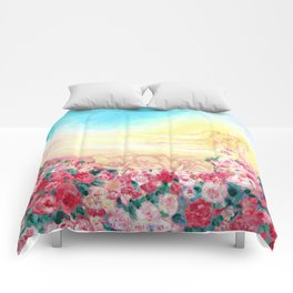 Angels and roses Comforters