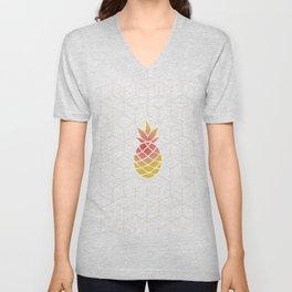 Pineapple Geometric Art Unisex V-Neck