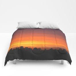 SUNRISE - SUNSET - ORANGE SKY - PHOTOGRAPHY Comforters