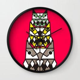 Simetric owl Wall Clock