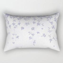Soft Purple Trailing Ivy Leaf Print Rectangular Pillow