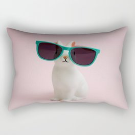 Sunglasses bunny Rectangular Pillow