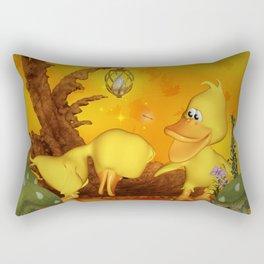 Cute little ducks, best friends Rectangular Pillow