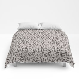 Black Cats and Leaves Pattern Comforters