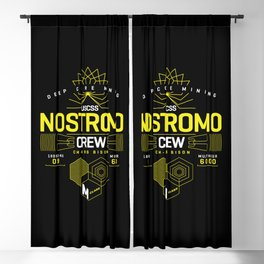 Deep Mining Crew / Nostromo / Alien / Science Fiction / Horror / Typography Blackout Curtain