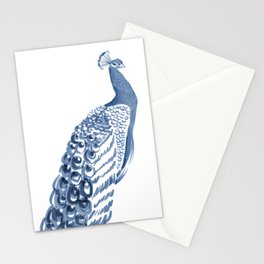 Peacock Blues Stationery Cards