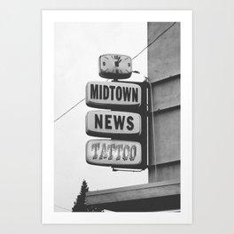 Midtown News Art Print
