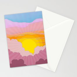 Sixties Inspired Psychedelic Sunrise Surprise Stationery Cards